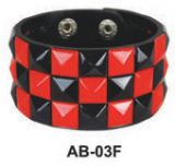 Studded Wristbands- Black & Red